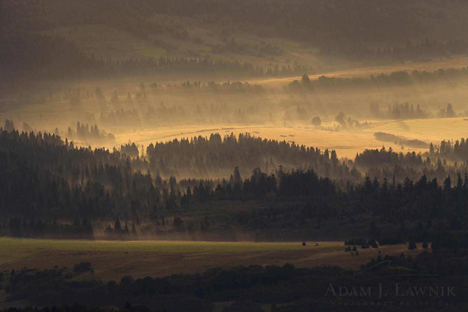 Wschód słońca na Haliczu