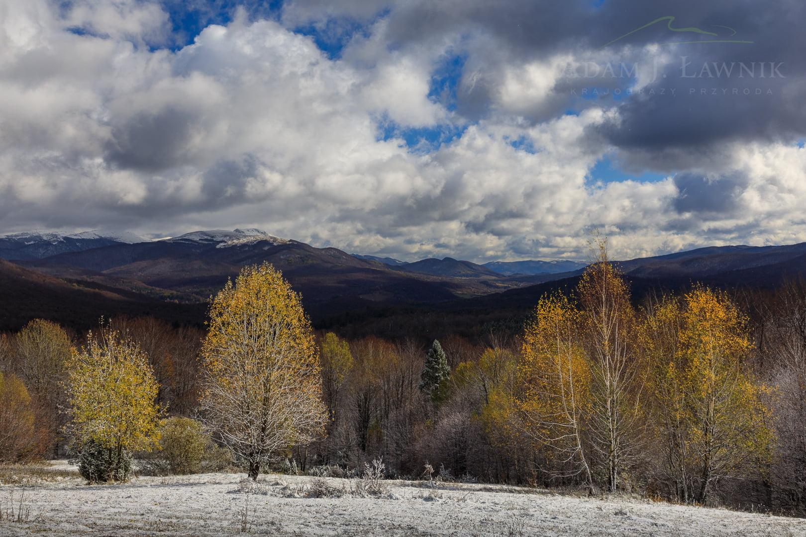 Przełom jesieni i zimy w Bieszczadach