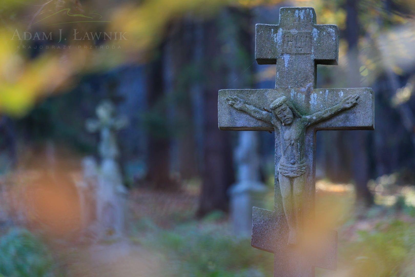 Cmentarz w Świerzowej Ruskiej w Magurskim Parku Narodowym