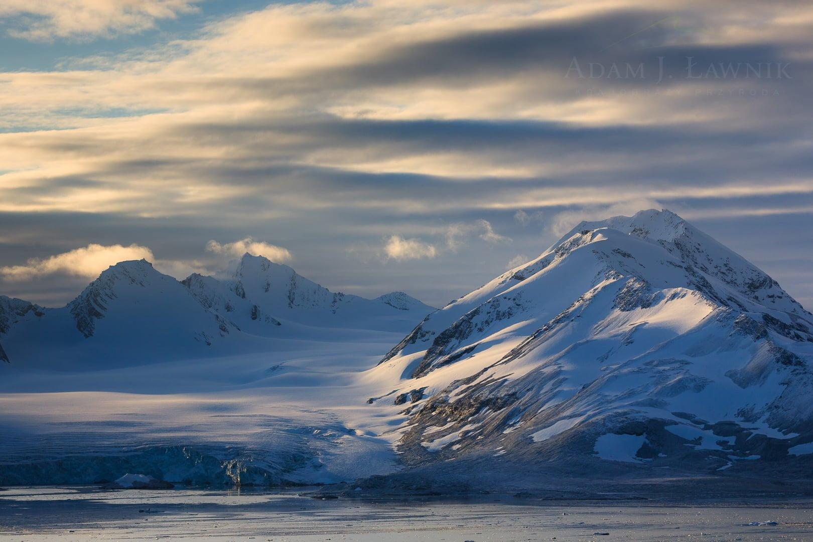 Widok z Przylądka Treskelen - Spitsbergen
