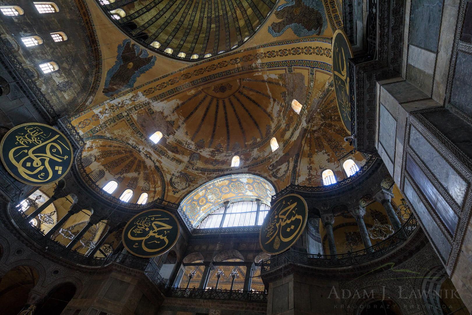 Wnętrze Hagia Sophia w Stambule